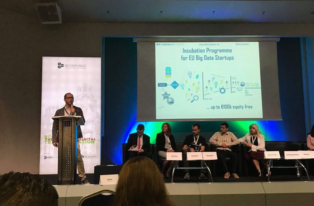 European Data Incubator (EDI) participates at BDV Meet-up in Sofia the 14th-16th of May